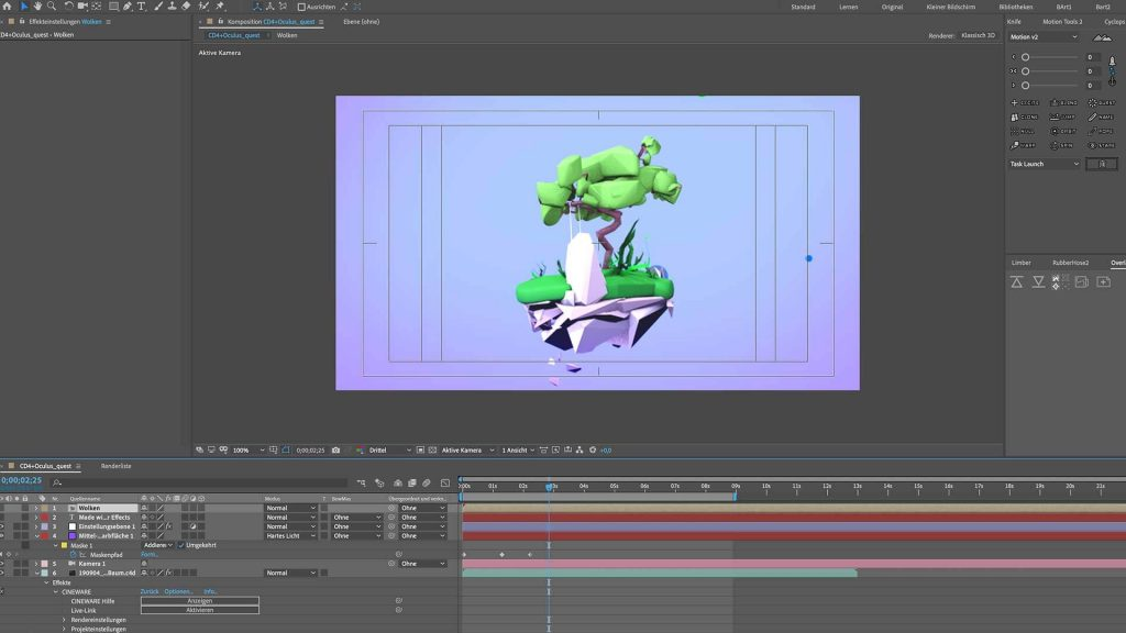 3D Komposition in After Effects.