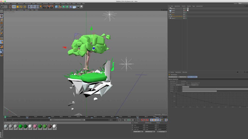 Importierte Gravity Sketch 3D Datei.